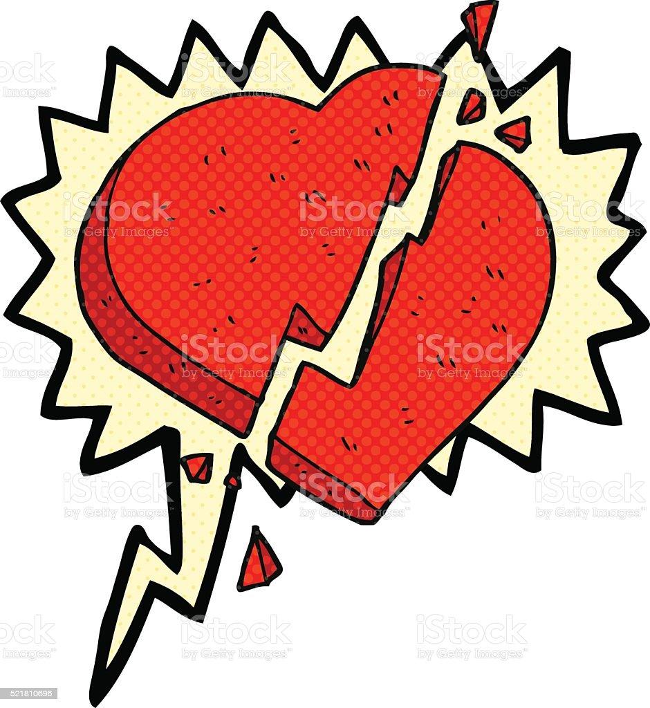Comic Book Speech Bubble Cartoon Broken Heart Symbol Stock Vector