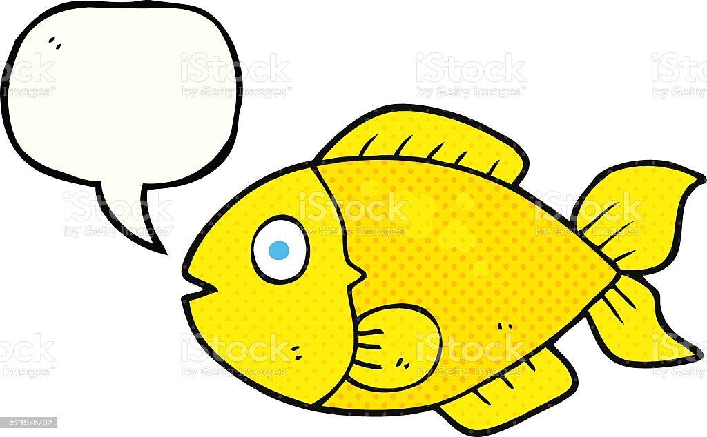 Comicbuch Rede Sprechblasenkarikatur Fisch Stock Vektor Art und mehr ...