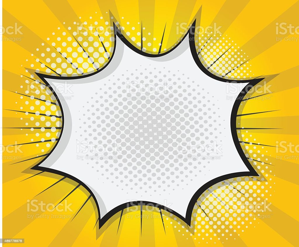 Comic Book Speech Bubble,Pop art Cartoon vector art illustration