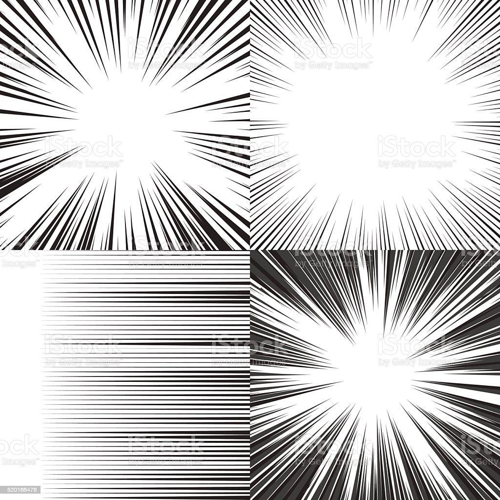 História em Quadrinhos velocidade linhas horizontais fundo - ilustração de arte em vetor