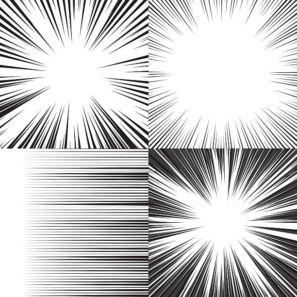 Comic book speed horizontal lines background vector art illustration