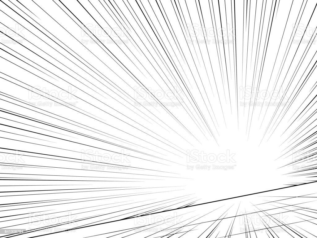 Linhas de velocidade de banda desenhada. Abstrato. Vector - ilustração de arte em vetor