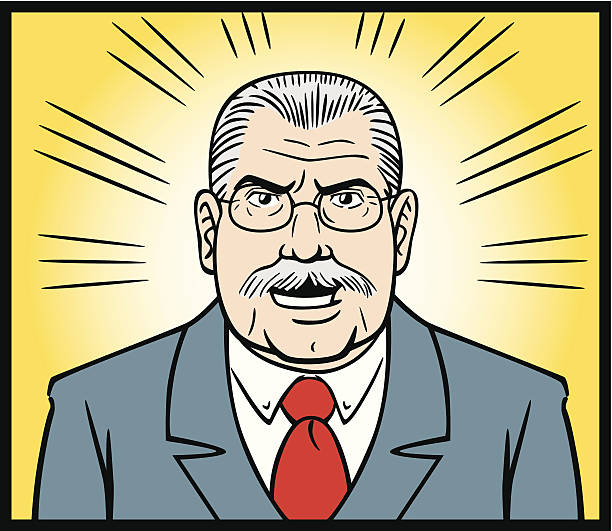 comic book style angry boss - old man crying stock illustrations, clip art, cartoons, & icons