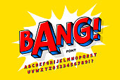 istock Comic book style font 1283810815