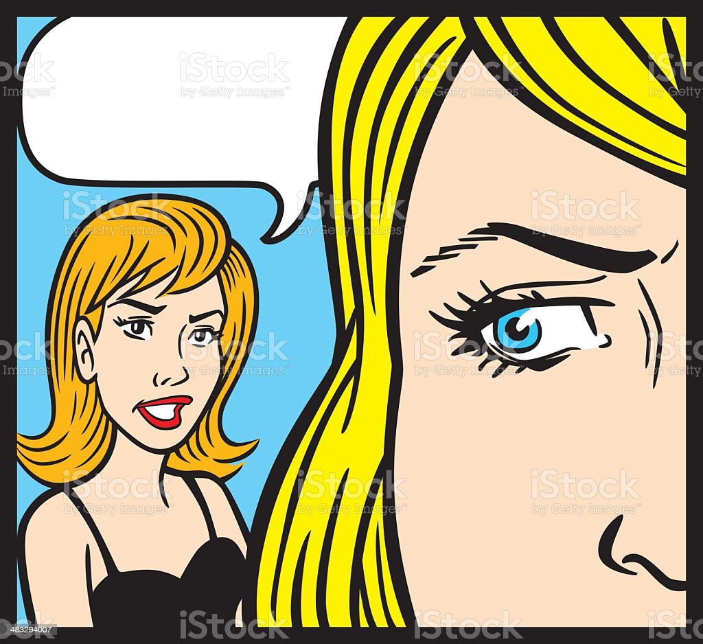 Comic Book Style Women royalty-free stock vector art