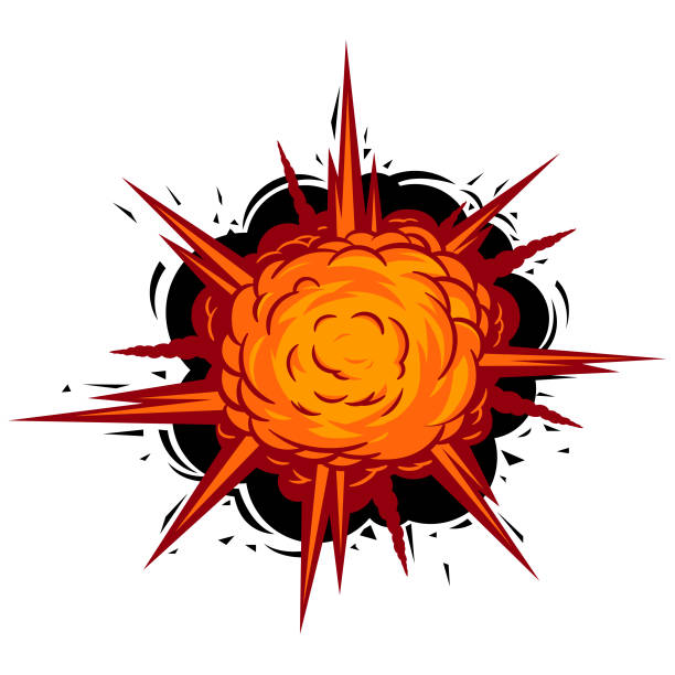 Comic Book Vector Explode drawing in comic book style. Vector symbol. explosive fuse stock illustrations