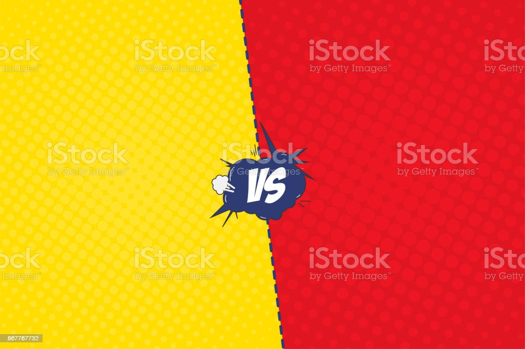 Comic Book Versus Template Background Explosion Bubble With ...