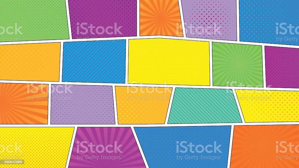 Comic book wallpaper vector art illustration