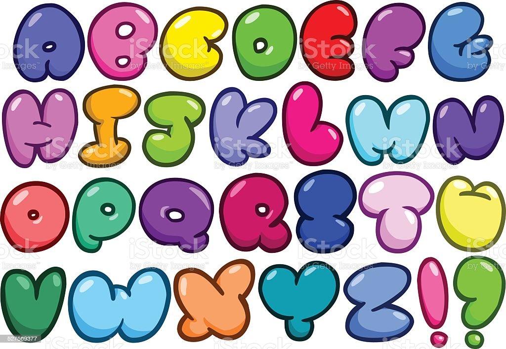 alphabet de bande dessinée bulles ensemble - Illustration vectorielle