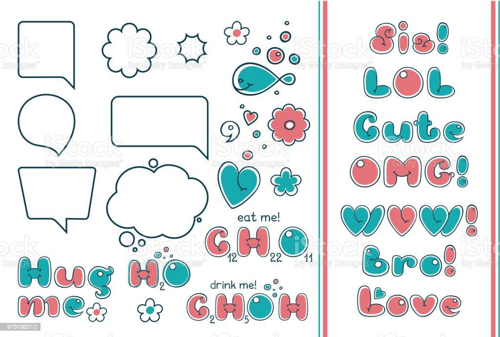 Ilustración De Juego Burbuja Cómica Frases Populares Y Citas