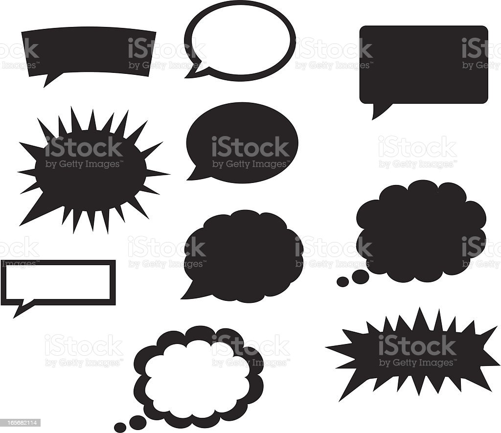 Comic Bubble Style royalty-free stock vector art