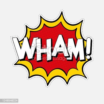istock WHAM! Comic bubble text 1248546224