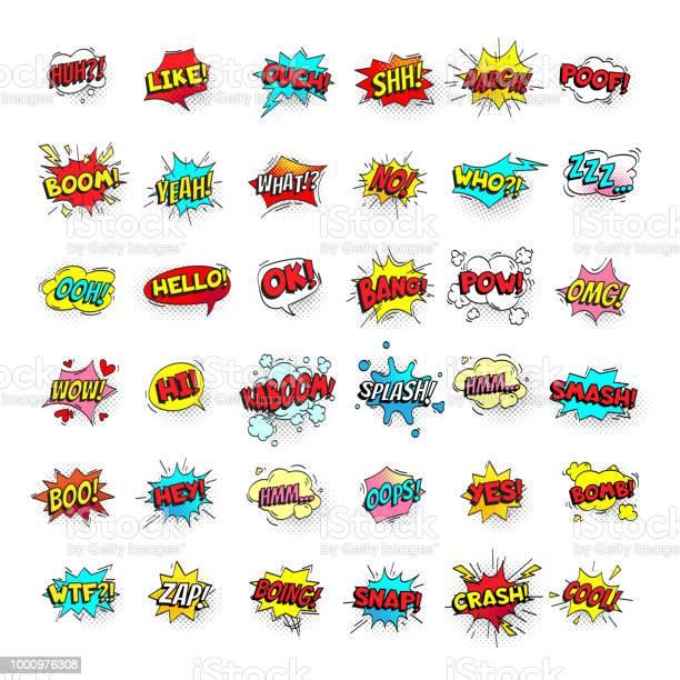 漫画の泡漫画の吹き出し捕虜ザップスマッシュブーム式分離した音声バブル ベクトル Pop アート ステッカー - しぶきを上げるのベクターアート素材や画像を多数ご用意