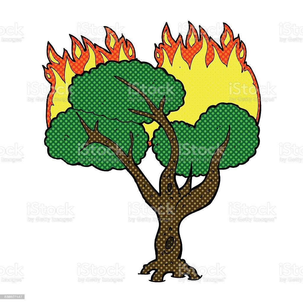 comic cartoon burning tree stock vector art more images of rh istockphoto com Comic Book Clip Art Superhero Clip Art