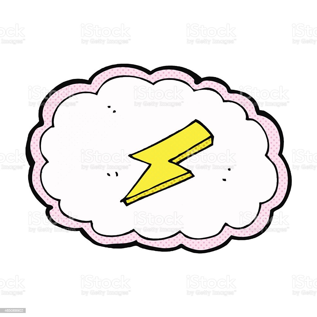 Vetores De Nuvem De Quadrinhos Desenhos E Simbolo De Relampago