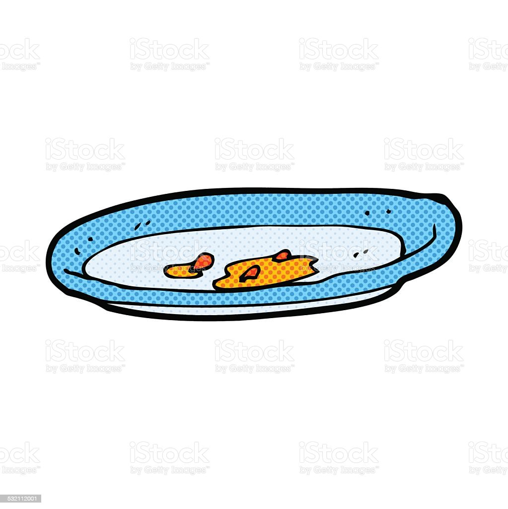 comic cartoon empty plate - Royaltyfri 2015 vektorgrafik