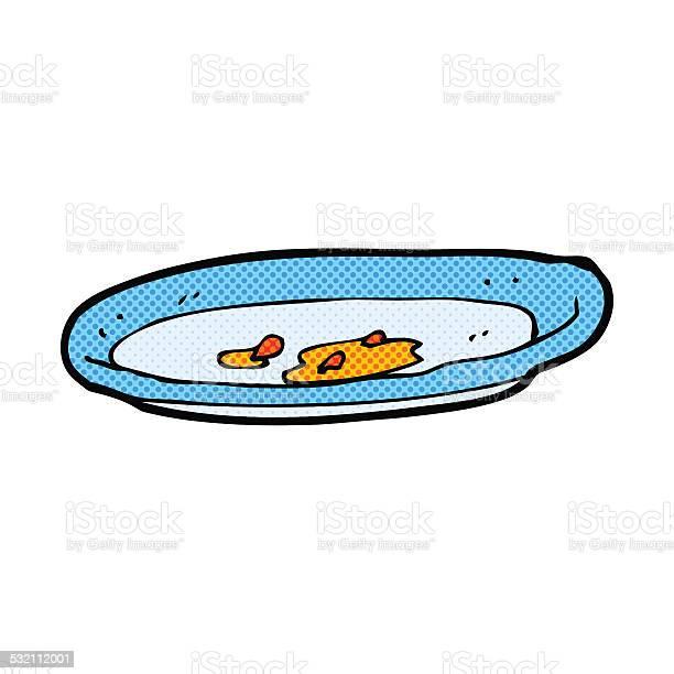 Comic Cartoon Empty Plate-vektorgrafik och fler bilder på 2015