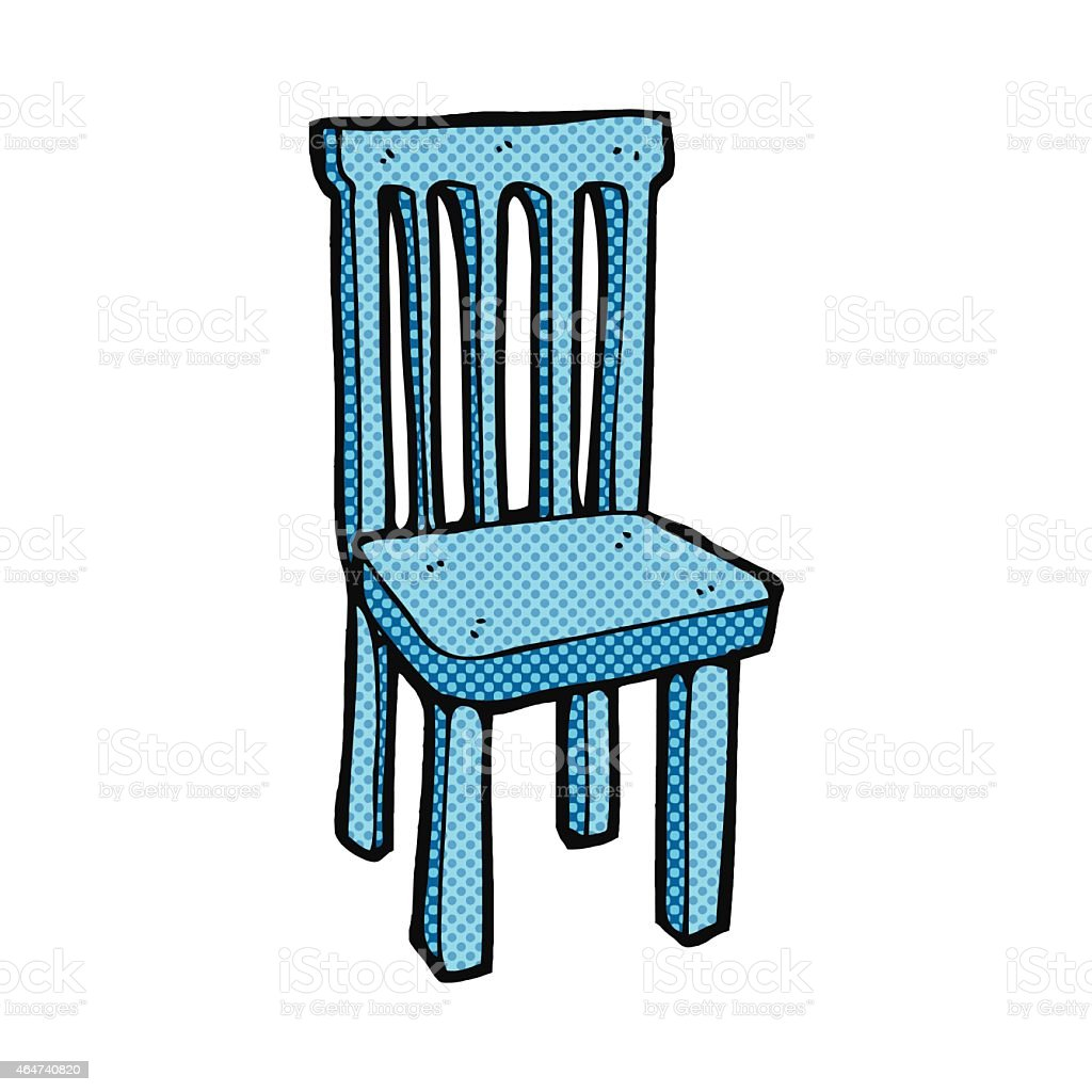 Comic Cartoon Wooden Chair Stock Illustration Download