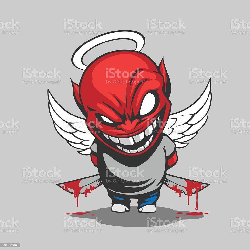 Comic devil illustration vector art illustration