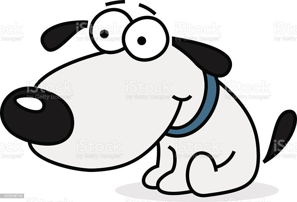 comichund sitzen auf dem boden stock vektor art und mehr bilder von abwarten 472279715 istock. Black Bedroom Furniture Sets. Home Design Ideas