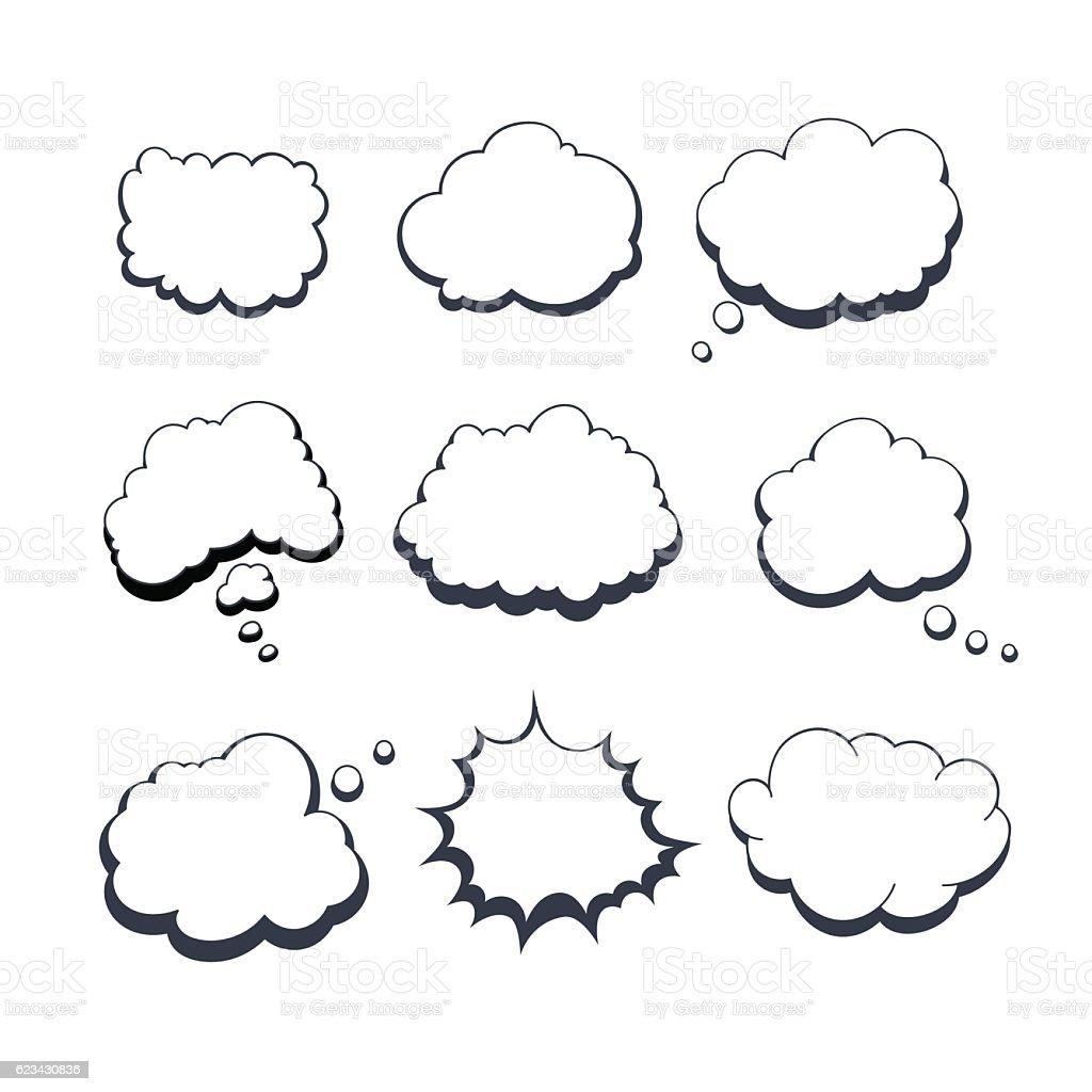 Comic Dream Bubbles vector art illustration