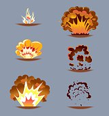 Comic Explosion Effect Sequence