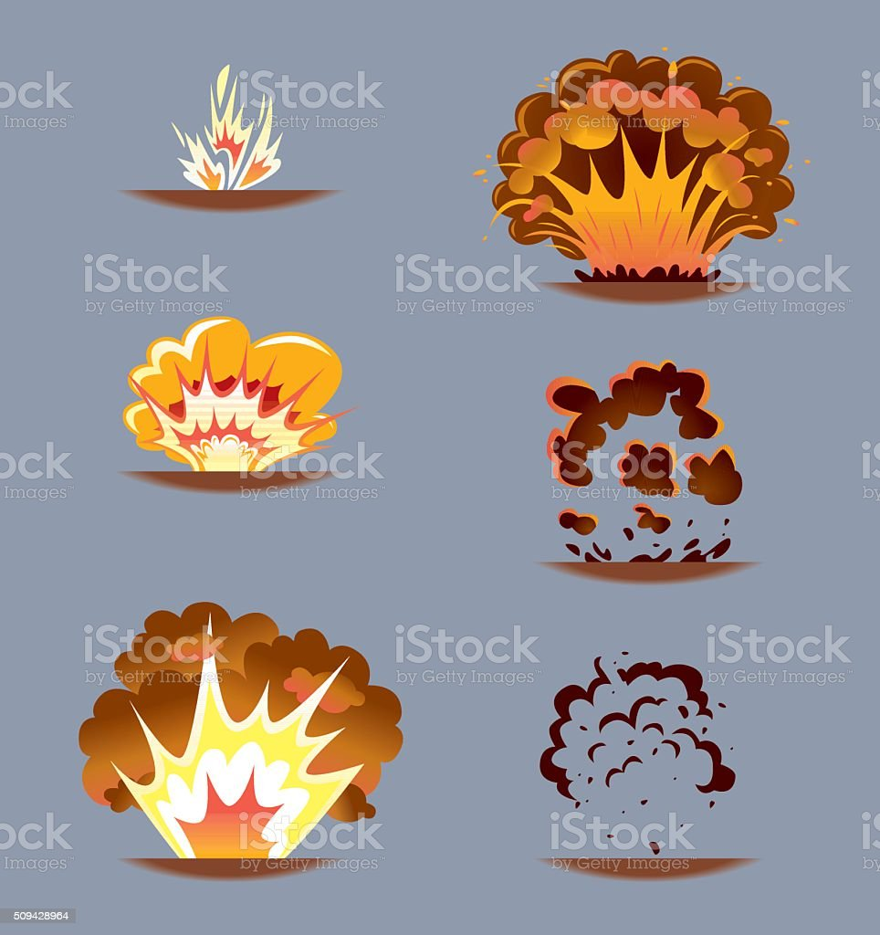 Comic Explosion Effect Sequence vector art illustration