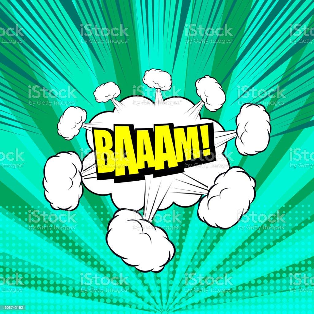 Comic explosive bright template vector art illustration