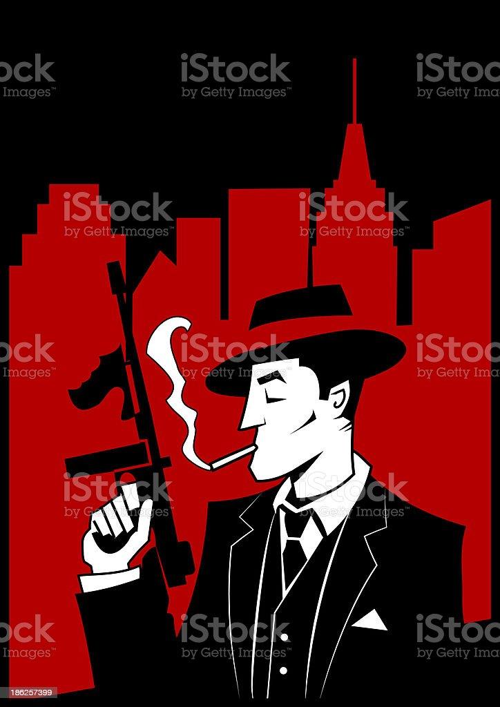 Comic Gangster - illustrazione arte vettoriale