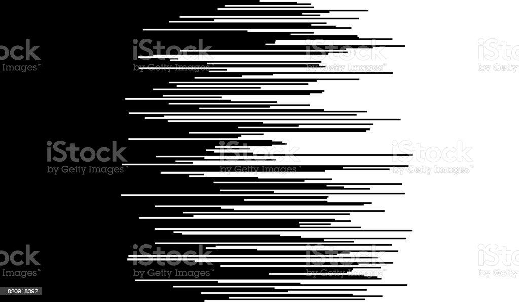 Komische horizontale snelheid lijnen achtergrondvectorkunst illustratie