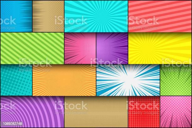 Comic page book colorful template vector id1069282748?b=1&k=6&m=1069282748&s=612x612&h=h9myi3vtecxla5ro29ktp6cvjabd42mkg  bmqzk5kw=