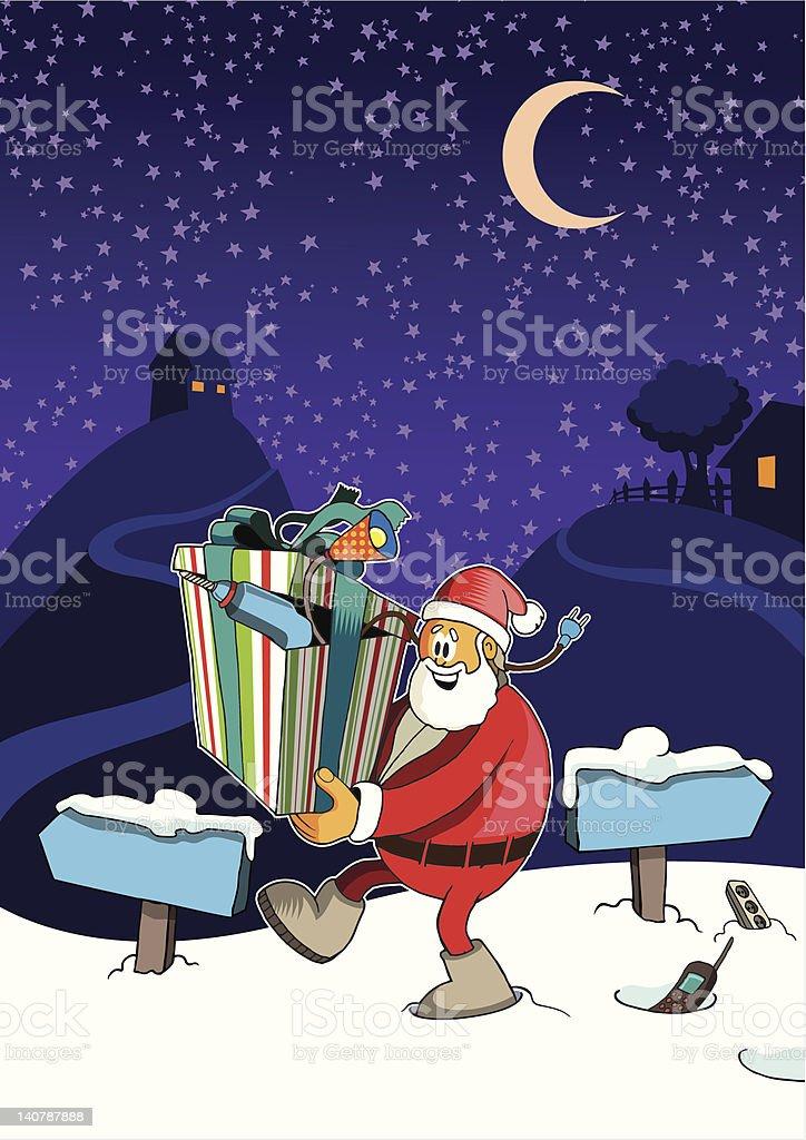 Comic santa clause. royalty-free comic santa clause stock vector art & more images of christmas