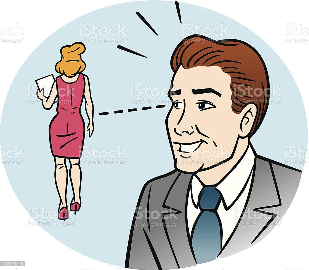 Comic Sexist Man vector art illustration
