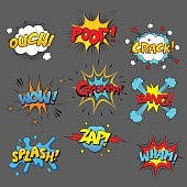 Comic sound effect set
