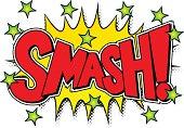 comic sound effect smash