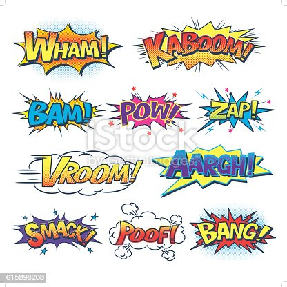 A set of 10 comic sound effects.