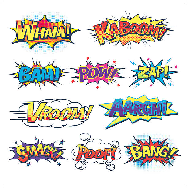 comic sound effect - comic book stock illustrations, clip art, cartoons, & icons