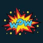 Comic sound effects in pop art vector style.  bubble speech