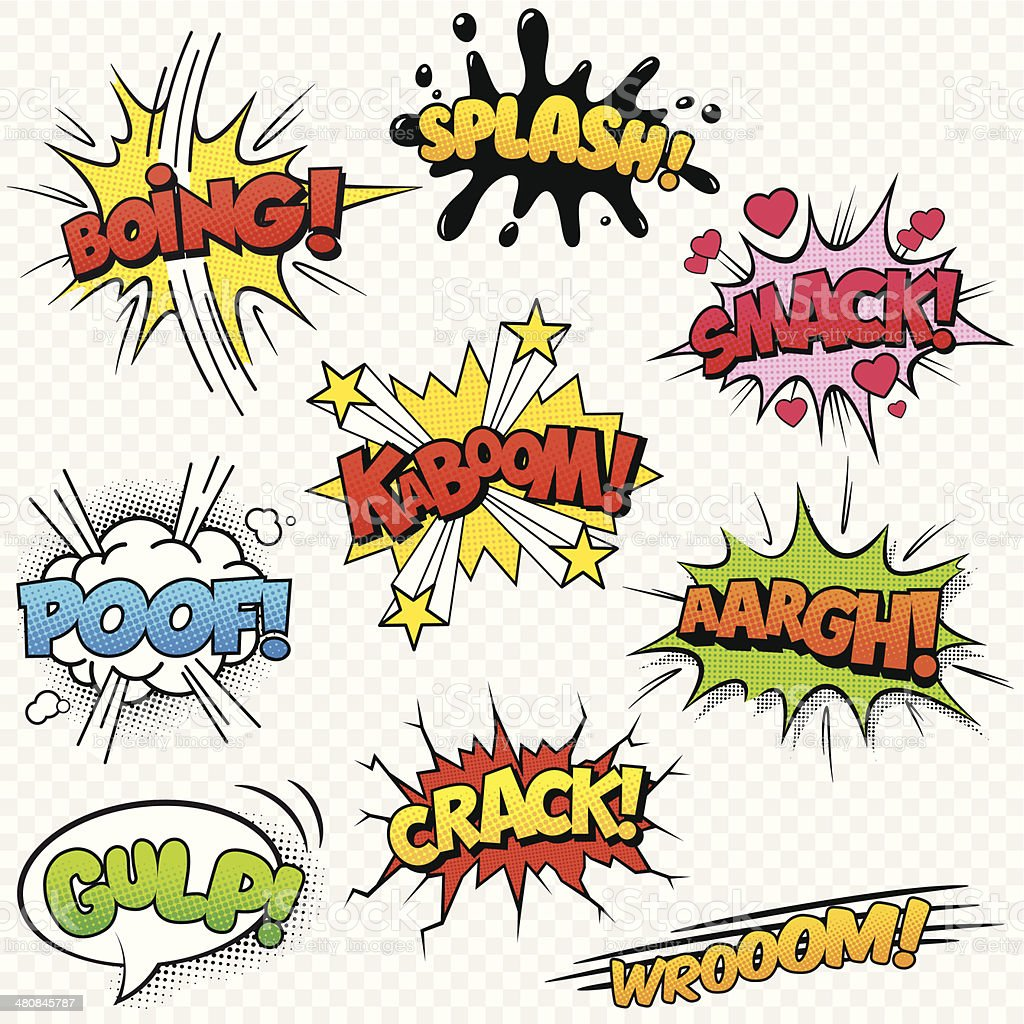 Comic Sound Effects set2 vector art illustration