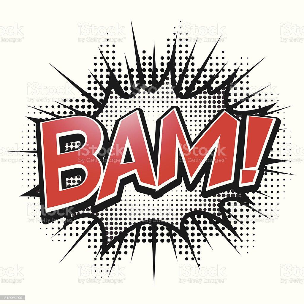 Comic speech bubble, Bam, isolate vector illustration vector art illustration