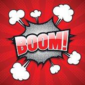Comic Speech Bubble, Boom, Vector illustration