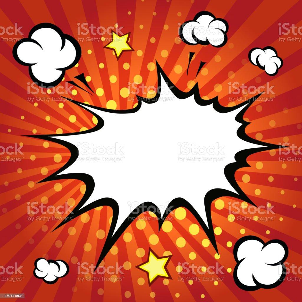 Comic speech bubble, comic backgound vector art illustration