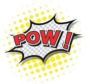 Comic speech bubble of POW! In cartoon