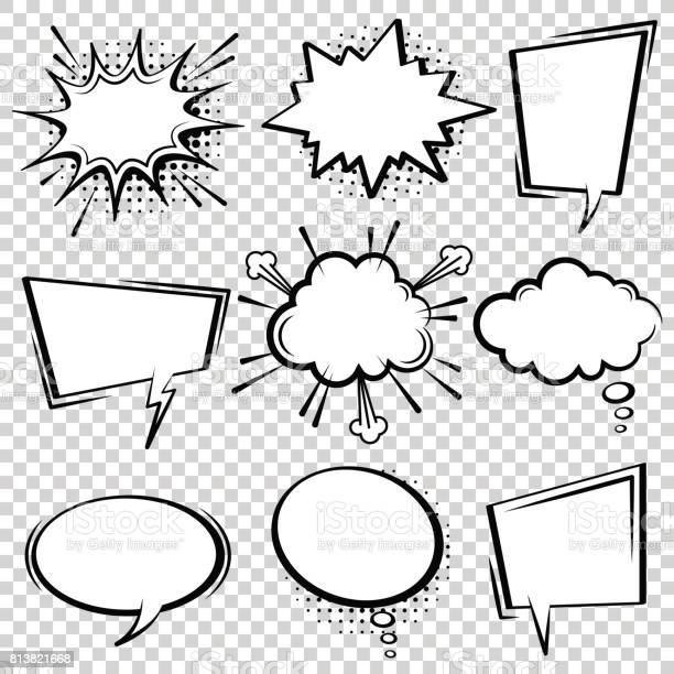 Comic speech bubble set black and white speech boxes vector id813821668?b=1&k=6&m=813821668&s=612x612&h=i xofflgp dvggtnxpsvoe9l9vzad6bcyc7hleeb0gm=