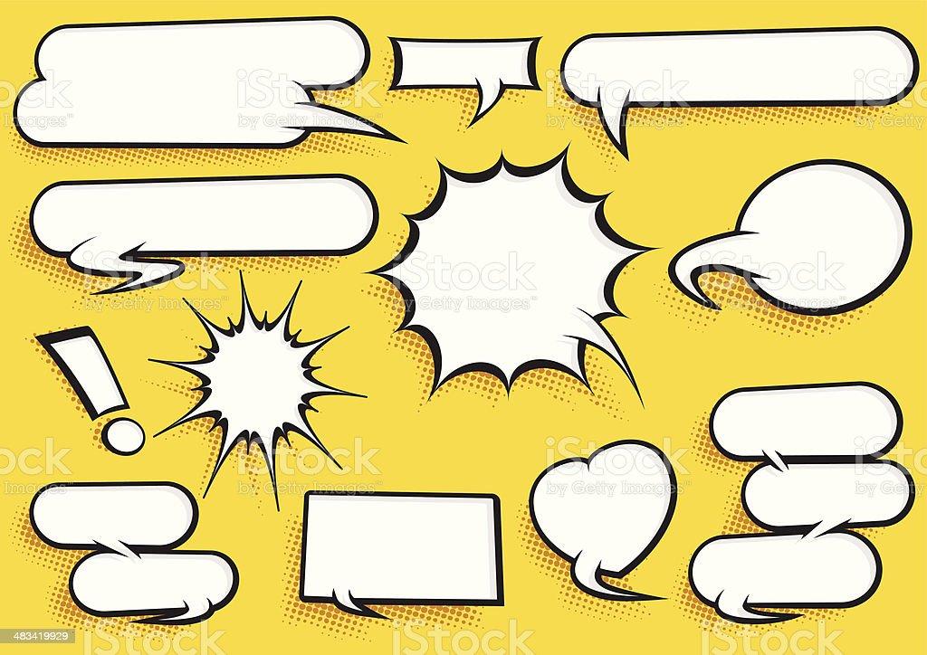 Comic Speech Bubble Set - Royalty-free Arrow Symbol stock vector