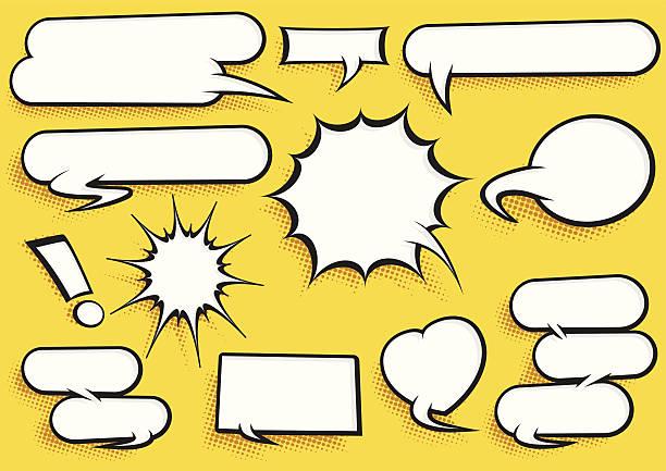 Comic Speech Bubble Set vector art illustration