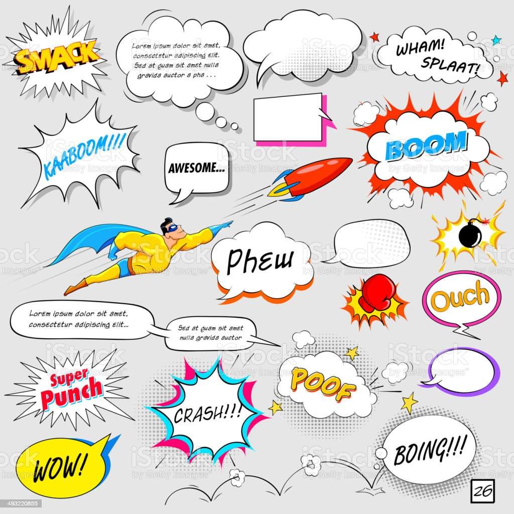 Comic Speech Bubble vector art illustration