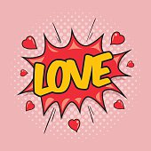 LOVE - Comic Speech Bubble