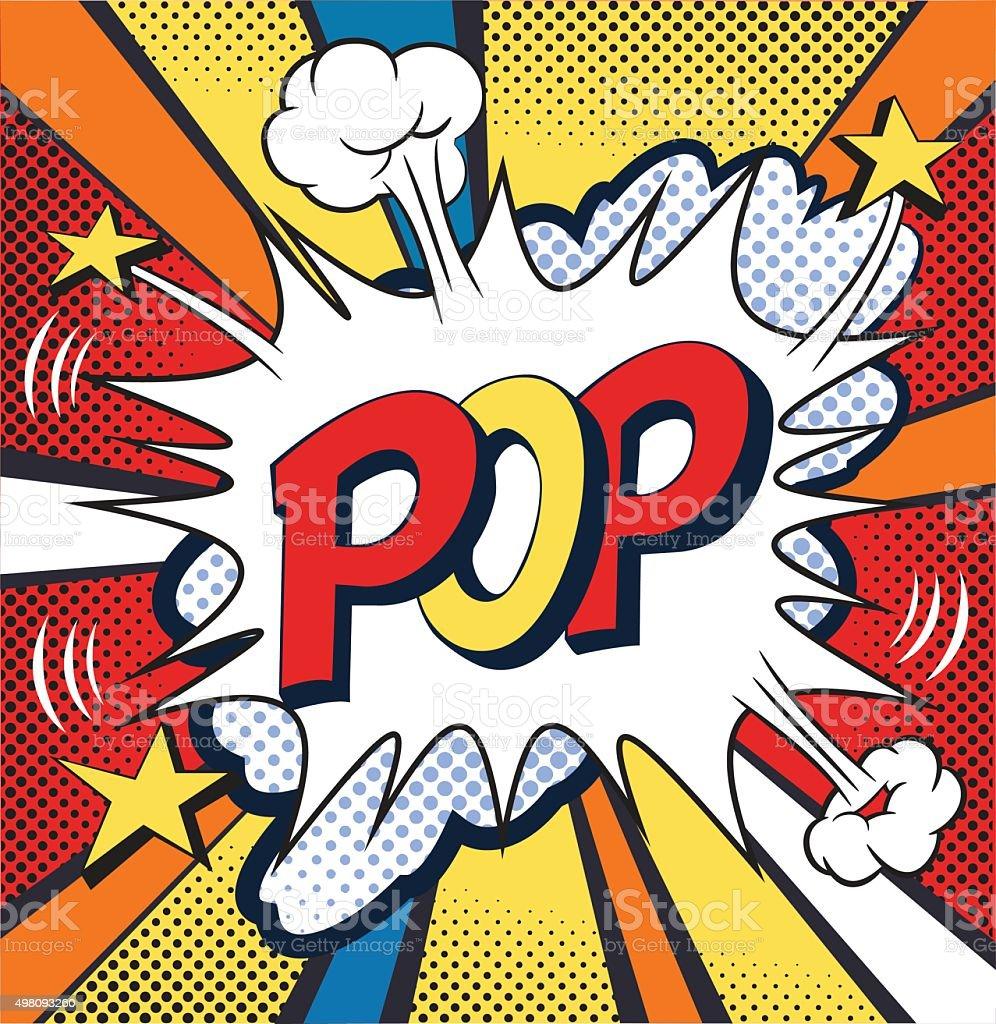 POP-discurso bolha de Quadrinhos. Ilustração vetorial - ilustração de arte em vetor