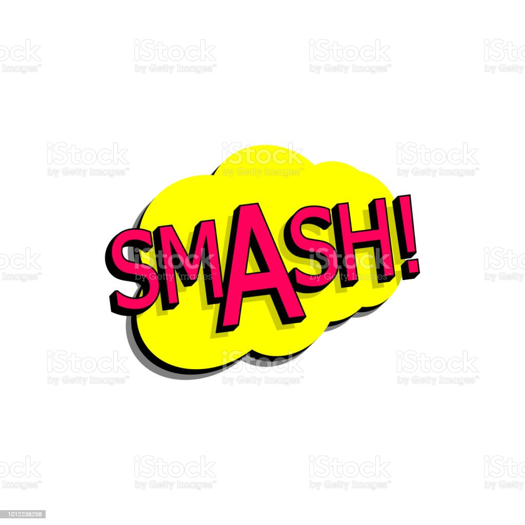 comic speech bubble with expression text smash vector bright dynamic